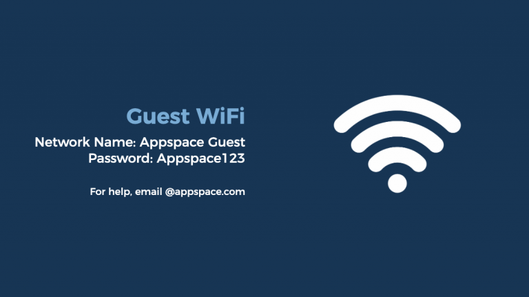 guest wifi card appspace